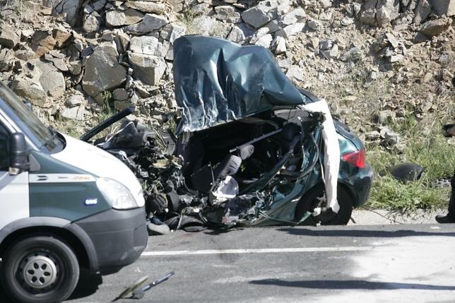 Estado en el que quedó el vehículo de la persona que ha fallecido en el accidente. David Castro