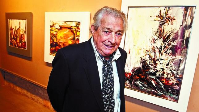El pintor, en su día grande. La inauguración de la exposición de Ignacio del Río es un acontecimiento social y artístico. DB/Luis López Araico