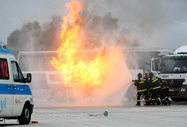 Tordesillas acoge un simulacro de accidente de mercancías peligrosas