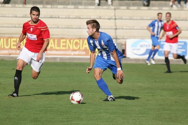 Rubén Moreno, del CF Talavera, lleva cuatro tantos Peña