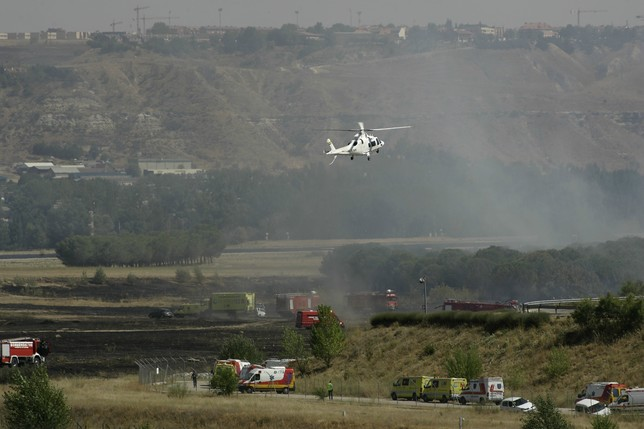 Imagen del accidente de Spanair en Barajas Europa Press