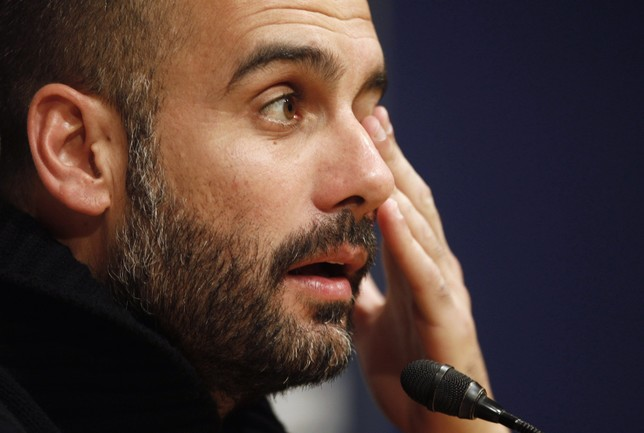 Pep Guardiola En Rueda De Prensa Europa Press