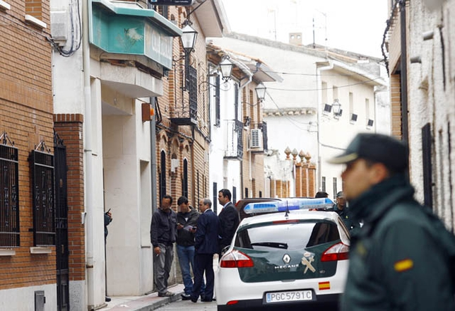 En el robo de la sucursal de la Caja Rural en Santa Cruz de Retamar resultó muerta la empleada de limpieza Mercedes Martín. Víctor Ballesteros