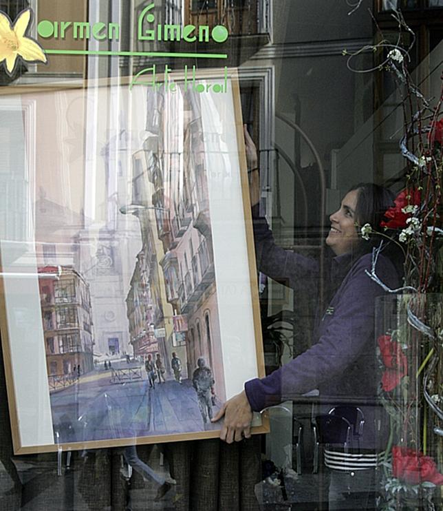 Luis Piñero expone su obra en Carmen Gimeno Arte Floral. J. Tajes
