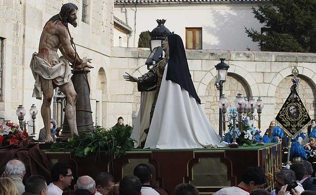 Procesión del Cristo atado a la columna y Santa Teresa. David Castro