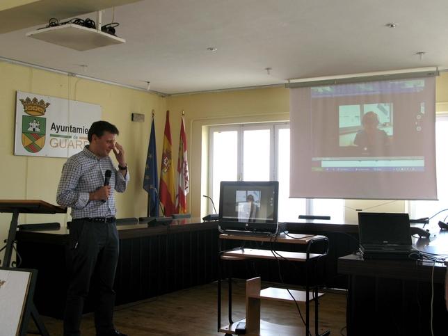 Durante la presentación se realizó una demostración práctica del sistema. Juan Carlos Castro