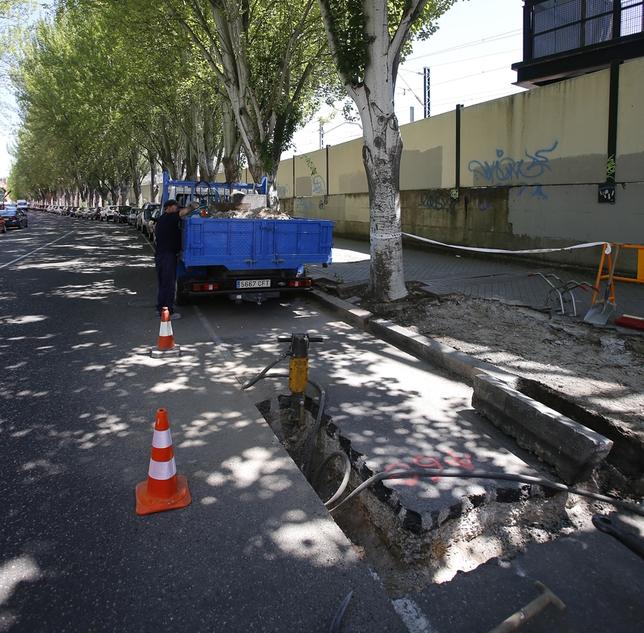 Remodelación de las aceras de la avenida de Irún. J. Tajes