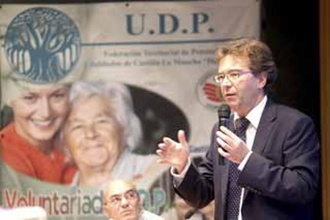 El geriatra Pedro Abizanda, en su ponencia en el congreso de UDP.  J.M. ESPARCIA