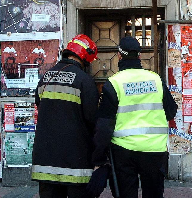 El alcalde hizo referencia a Bomberos y Policía Local. El Día de Valladolid