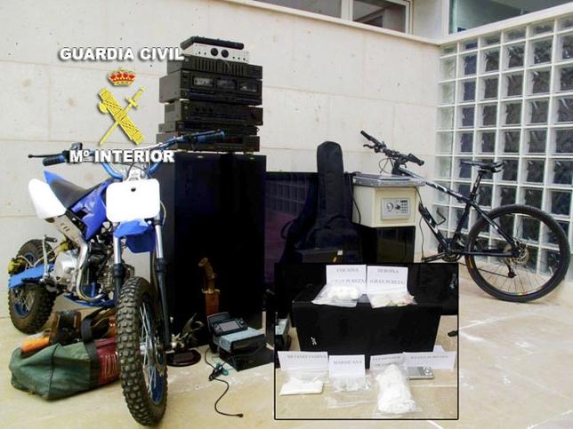Material recuperado por la Guardia Civil /LT