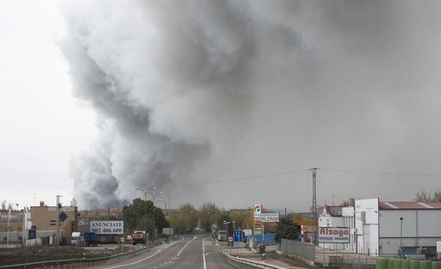 Incendio en la fábrica que Campofrío tiene en Burgos