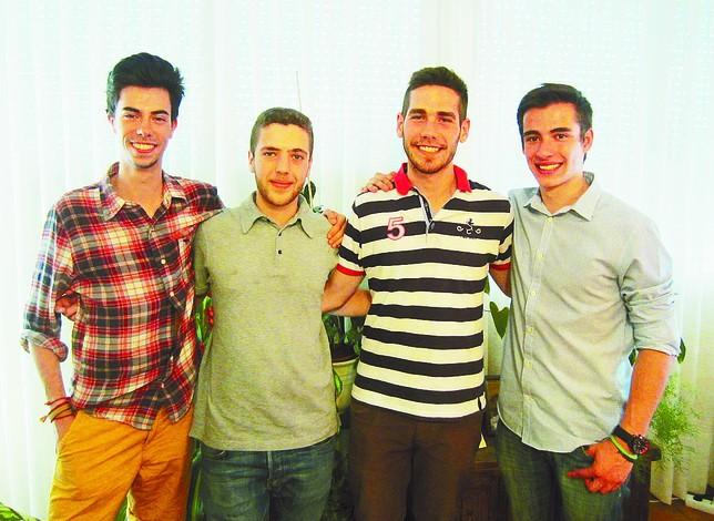 De izquierda a derecha: Manuel Barahona, Daniel Rincón, Rodrigo Sanz y Gonzalo Gómez, estos dos últimos de Hontoria.
