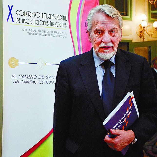 El presidente del Comité Internacional de Expertos, ayer en Burgos. Sara Vélez