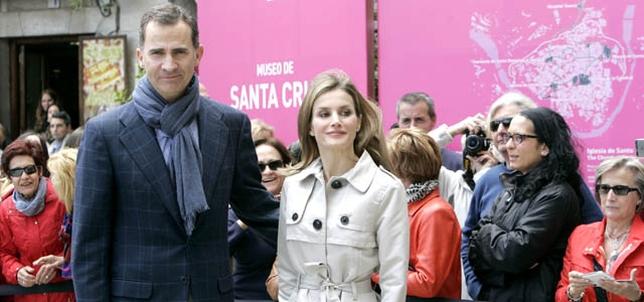 Los Principes de Asturias llegaron a las tres de la tarde al Museo de Santa Cruz David Pérez