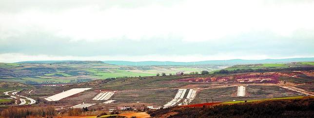 Vista general de las obras del Parque Tecnológico, entre Burgos y Cardeñajimeno. Patricia