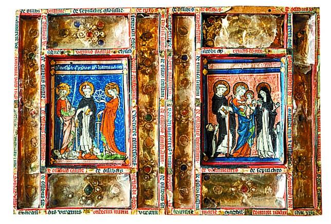 El Díptico de Santa Úrsula es la joya de esta exposición. Se trata de una pieza del siglo XIII que nunca antes se había expuesto al público.