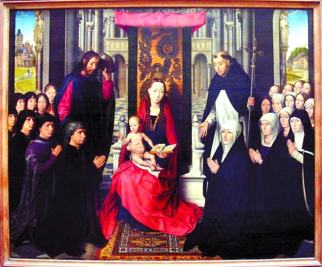 'Virgen de Jacques Floriens', atribuida a Memling. Museo del Louvre.