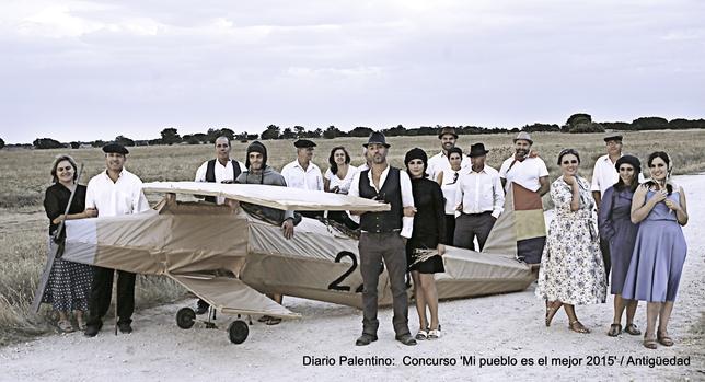 Antigüedad: En 1934 un pionero en la aviación hijo de Antigüedad aterrizó en los paramos de su pueblo para gran asombro de los allí congregados.