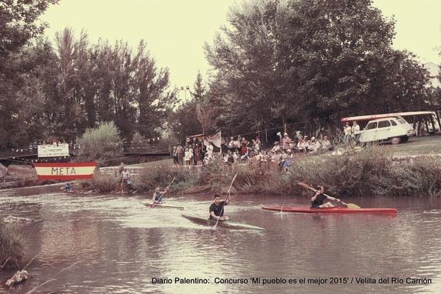 VELILLA DEL RÍO CARRIÓN: Recordando los orígenes de las piraguas en Velilla del Río Carrión. El primer descenso se hizo en el año 1966 y desde entonces Velilla y las piraguas han estado muy unidos.