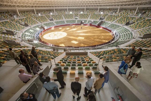 Vista general de la nueva plaza de toros de El Plantío, presentada oficialmente hoy. Miguel Ángel Valdivielso