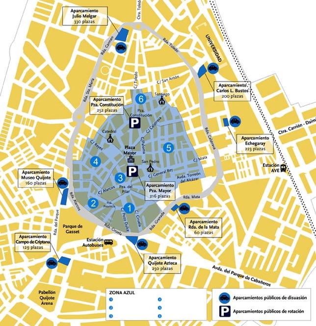 Remodelar las plazas de pago la tribuna de ciudad real - Plano de ciudad real ...