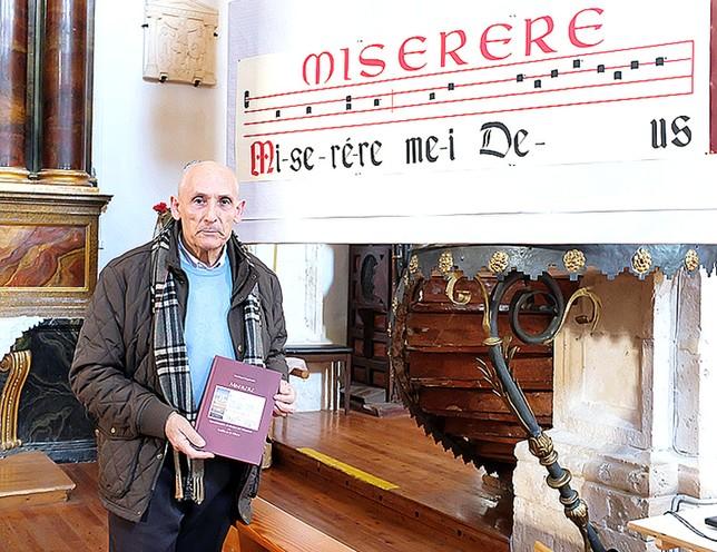 Santiago Izquierdo es el impulsor de la recuperación del Miserere. DB