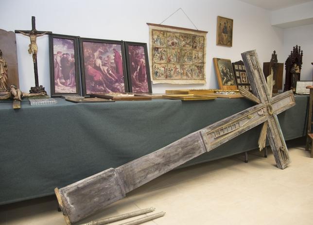 Varios de los objetos recuperados. Ricardo Ordóñez (ICAL)