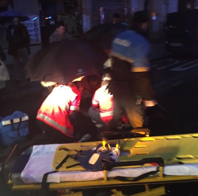 Atropello registrado en la calle Tudela, en el que el conductor dio positivo por alcoholemia. @PoliciaVLL
