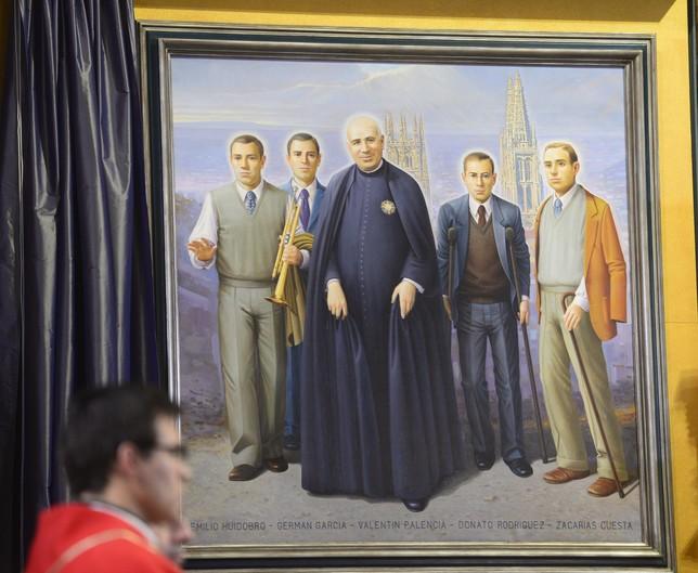 Cuadro que representa a Palencia y sus cuatro discípulos, ya beatos. Ricardo Ordóñez (ICAL)