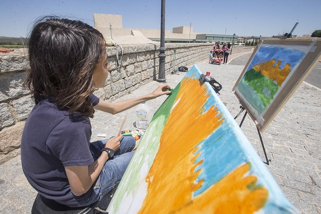 El Certamen de Pintura Rapida reunió a 200 artistas de toda España.