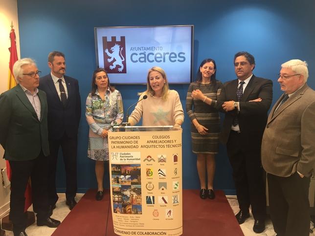 Las ciudades patrimonio y los colegios de aparejadores firman un convenio de colaboraci n la - Aparejadores coruna ...