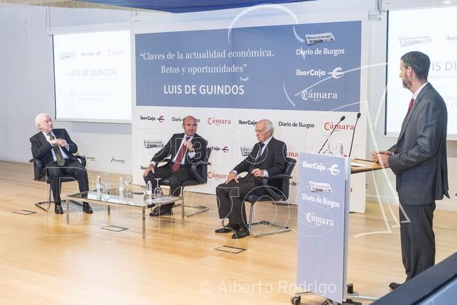 Luis de Guindos visitó Burgos en marco del encuentro organizado por la Cámara de Comercio, Ibercaja y Diario de Burgos