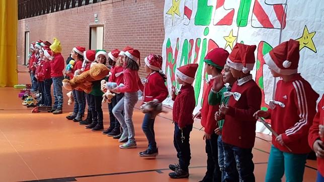 Nochevieja por adelantado en el colegio de Saldaña