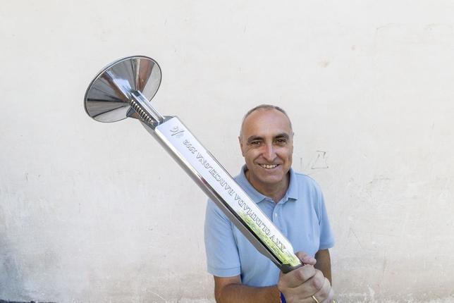 Jorge Merino fue voluntario en Barcelona 92 e incluso portó la antorcha olímpica
