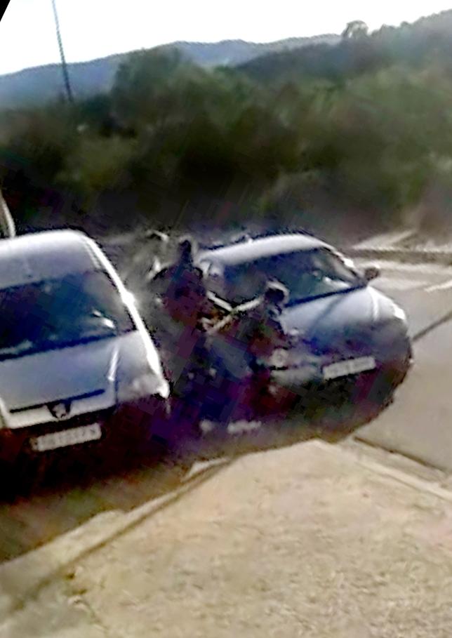 Imagen del vídeo del momento en el que Eliseo Antón es atropellado. DB