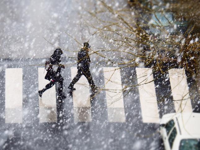 Imagen de Albacete cuando empezaba la nieve