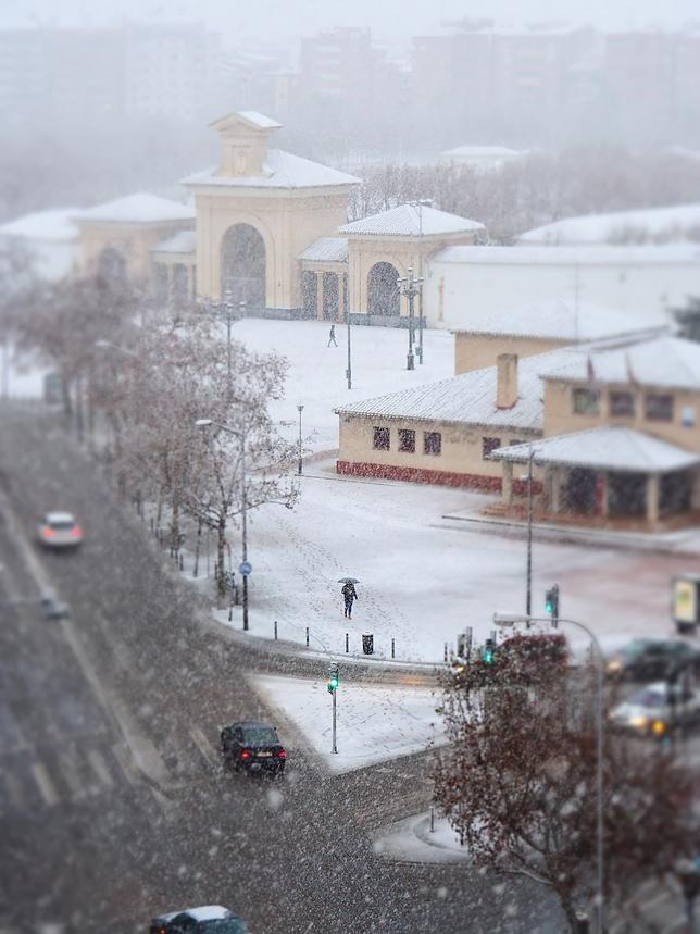 Fotografías de la nevada en la capital.