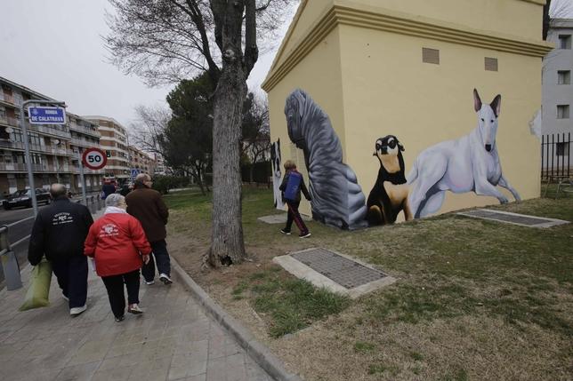 Una de las casetas decoradas /Fotos RUEDA VILLAVERDE