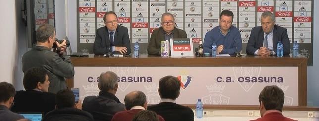 La Junta Directiva de Osasuna ha comparecido de urgencia esta mañana Natv