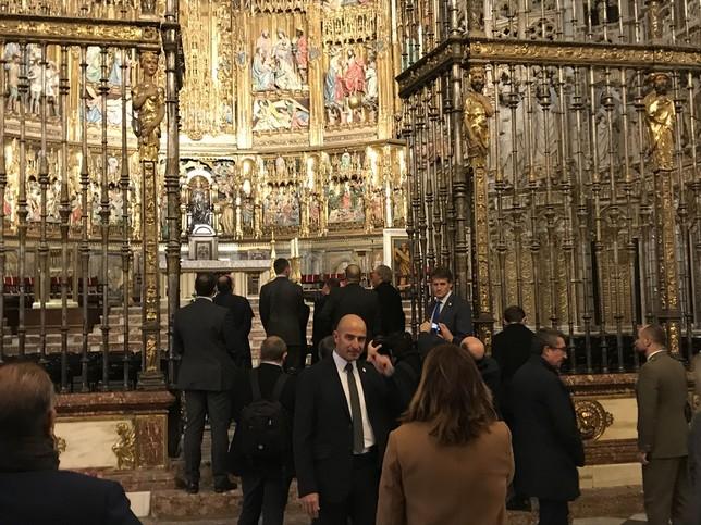 El rey visita la muestra Cisneros