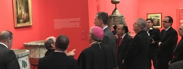 El rey visitó la muestra Cisneros