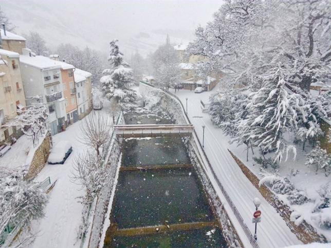 Nerpio es una de las localidades donde más ha cuajado la nieve.