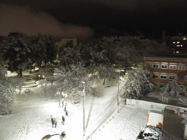 Almansa, después de la gran nevada.