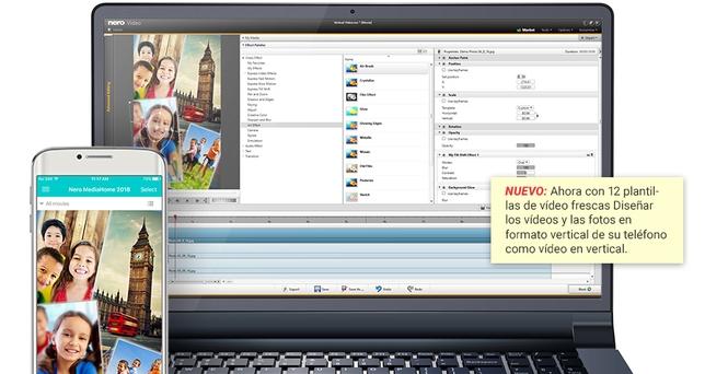 Creación automática de vídeos con fotos en formato vertical