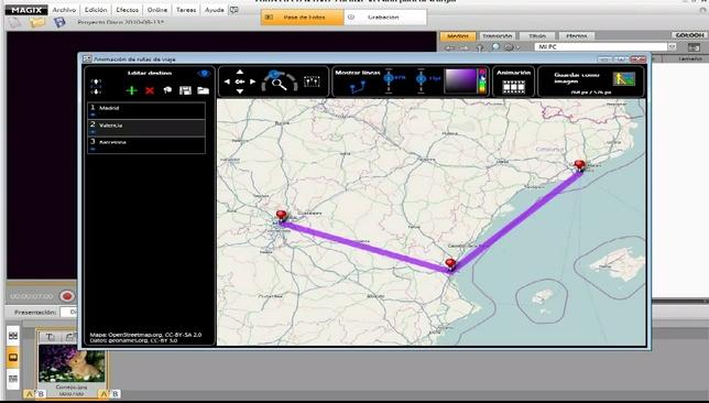 Creador de rutas para incluir en nuestros videomontajes
