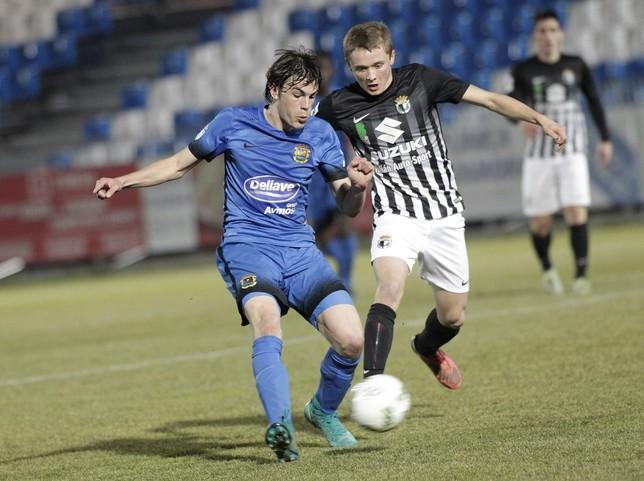 Etxarri marcó el empate al aprovechar un balón suelto en el área tras una jugada de Andrés. Juan Lázaro