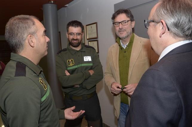 Esaú Escolar y Rubén Cabrero junto a José Luis Vázquez y Javier López Escobar Aurelio Martin