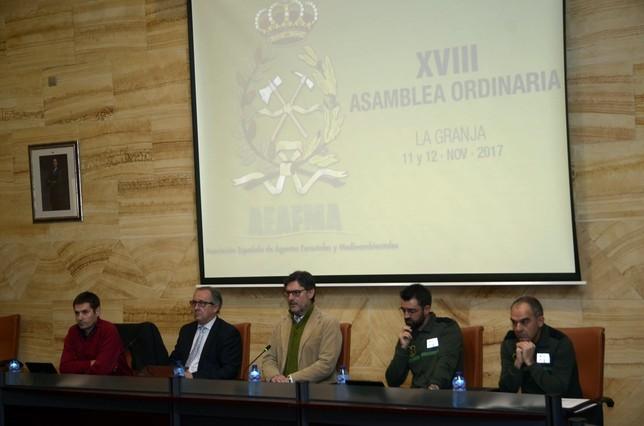 Inauguración de la asamblea de AEAFMA  Aurelio Martin