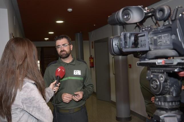 El presidente de AEAFMA habla para La8TV (RTVCyL) Aurelio Martin