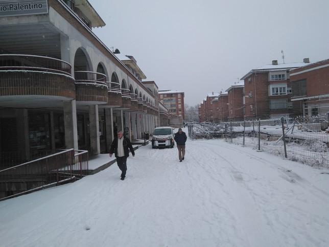 Guardo se cubre de nieve